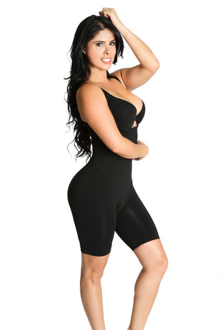 Smok69 Smok69 Mid-Thigh Full Strappy Body Shaper Available in Black and Nude  - 1