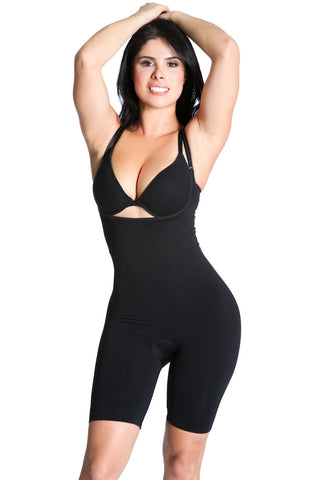 Smok69 Smok69 Mid-Thigh Full Strappy Body Shaper Available in Black and Nude  - 5