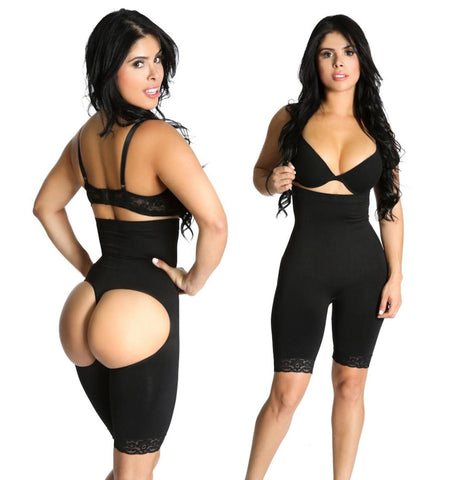 Smok69® High Waist Butt Lifter Trainer Thigh Control Full body Shaperwear Slimmer Bodysuit 3 in 1 Nude Black