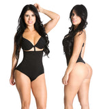 Shapextreme® High Waist Thong Back Full Body Shaper Tummy Hip control Black