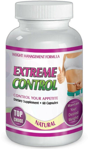Extreme Control 60 Capsules Weight Management Formula Control Your Appetite Diet Fat Burner