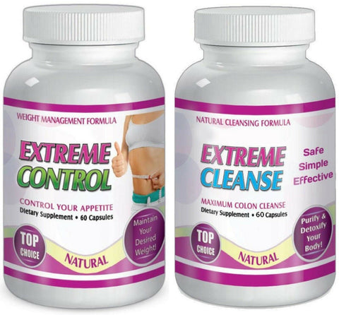 Extreme Cleanse Control Weight Loss Diet System Kit 30 Day Diet Supply All Natural