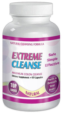 Extreme Cleanse Maximum Colon Detox Control 30 Day Supply All Natural