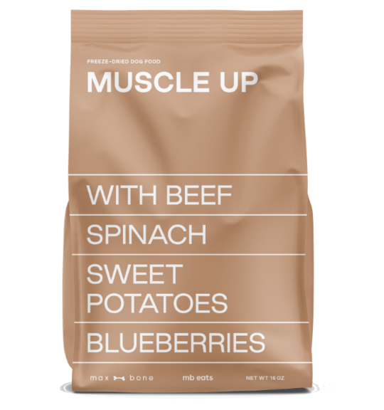 muscle up brown package of MB Eats meal