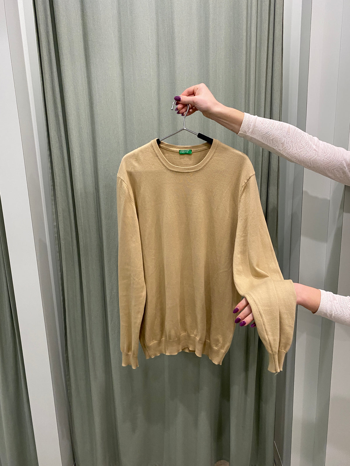 United Colors of Benetton Camel Layering Knit