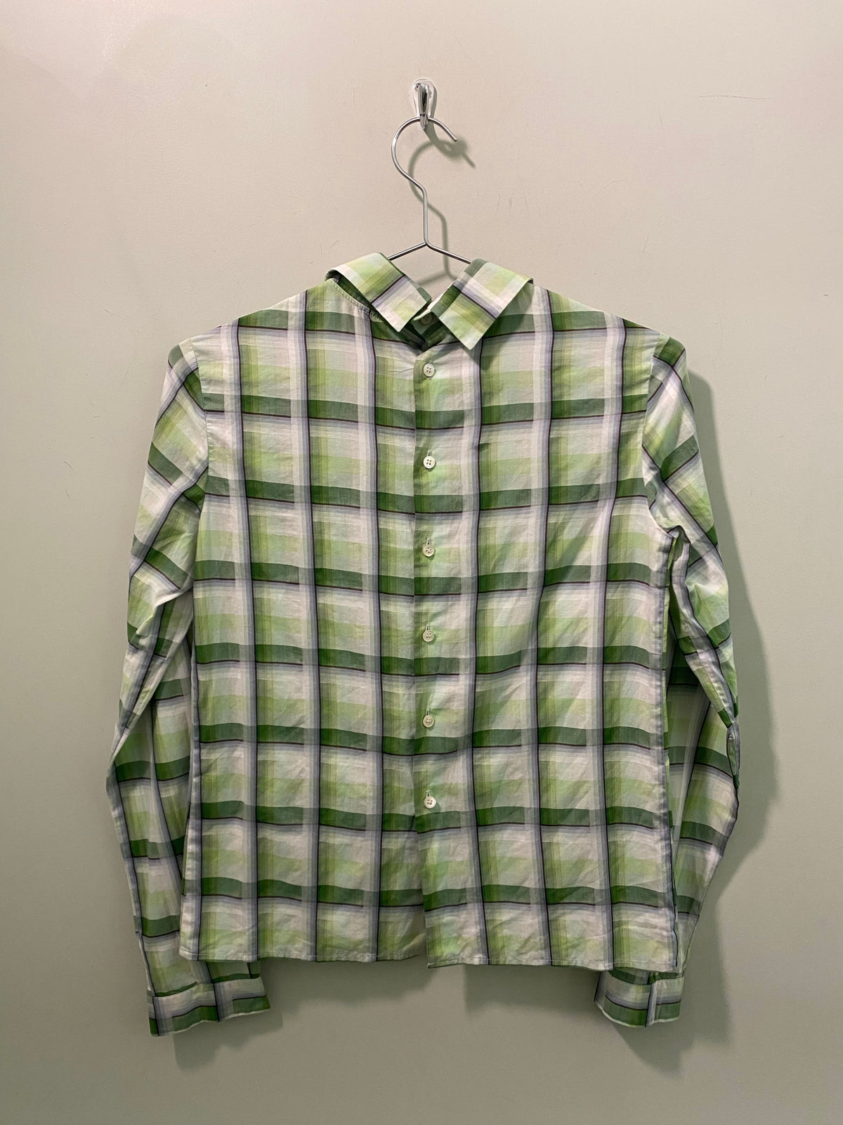 Miu Miu Green Check Shirt