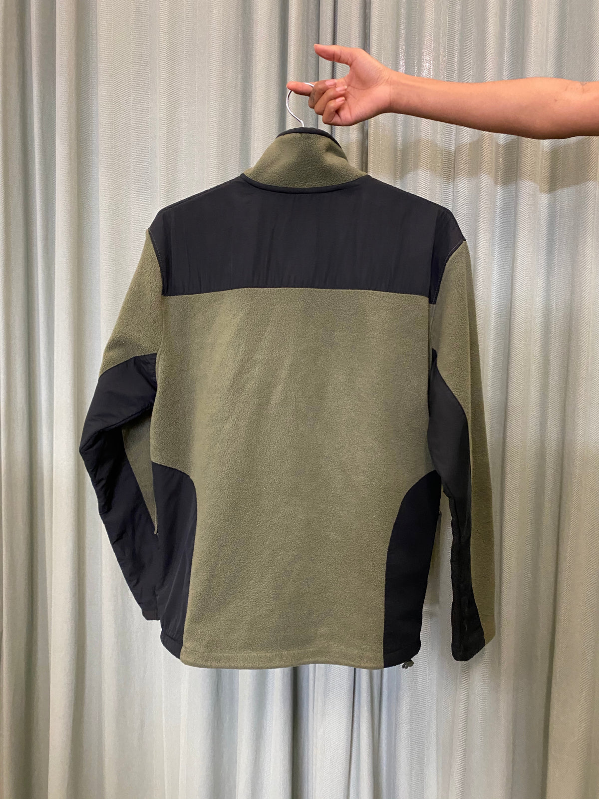 Olive Fleece Zip Up
