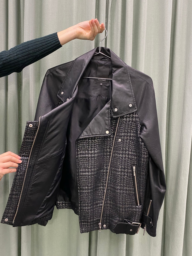 Yttrium Metallic Houndstooth Jacket