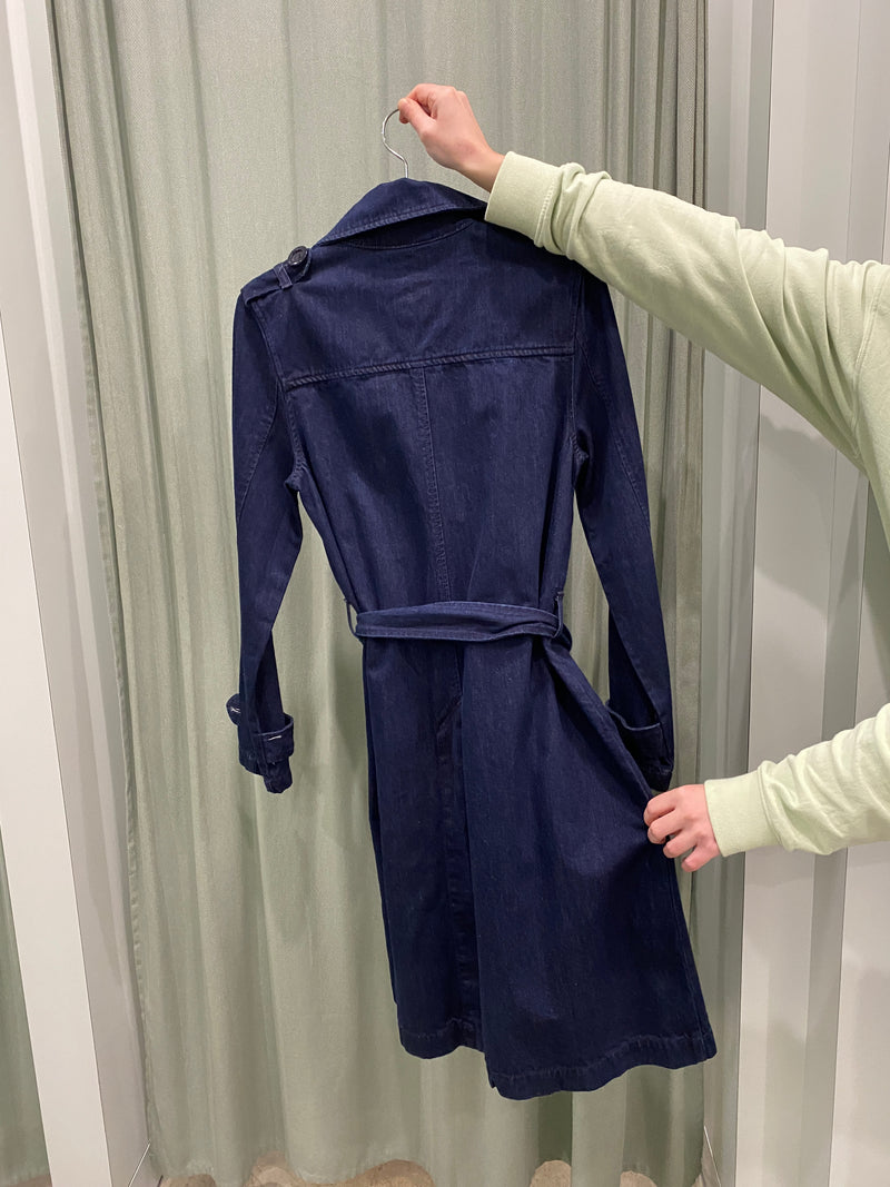 Nobody Indigo Denim Trench