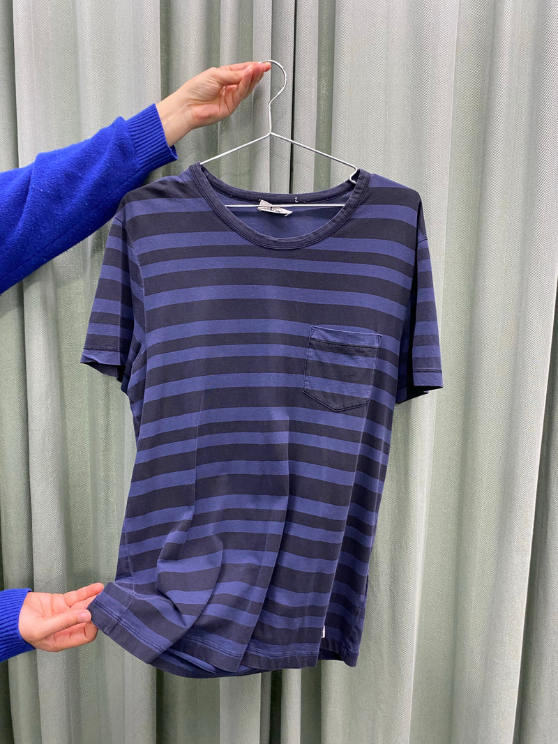 Acne Blue Striped Tee
