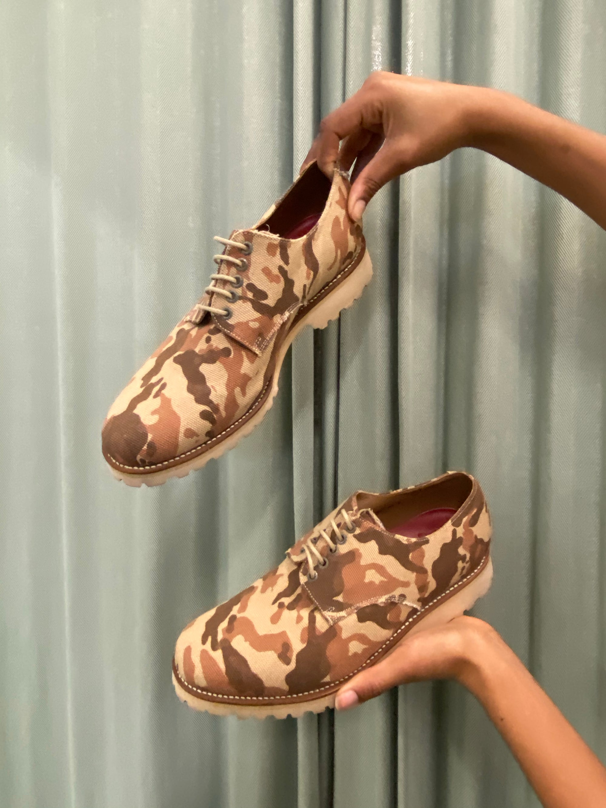 Canvas Camouflage Lace Up Shoes