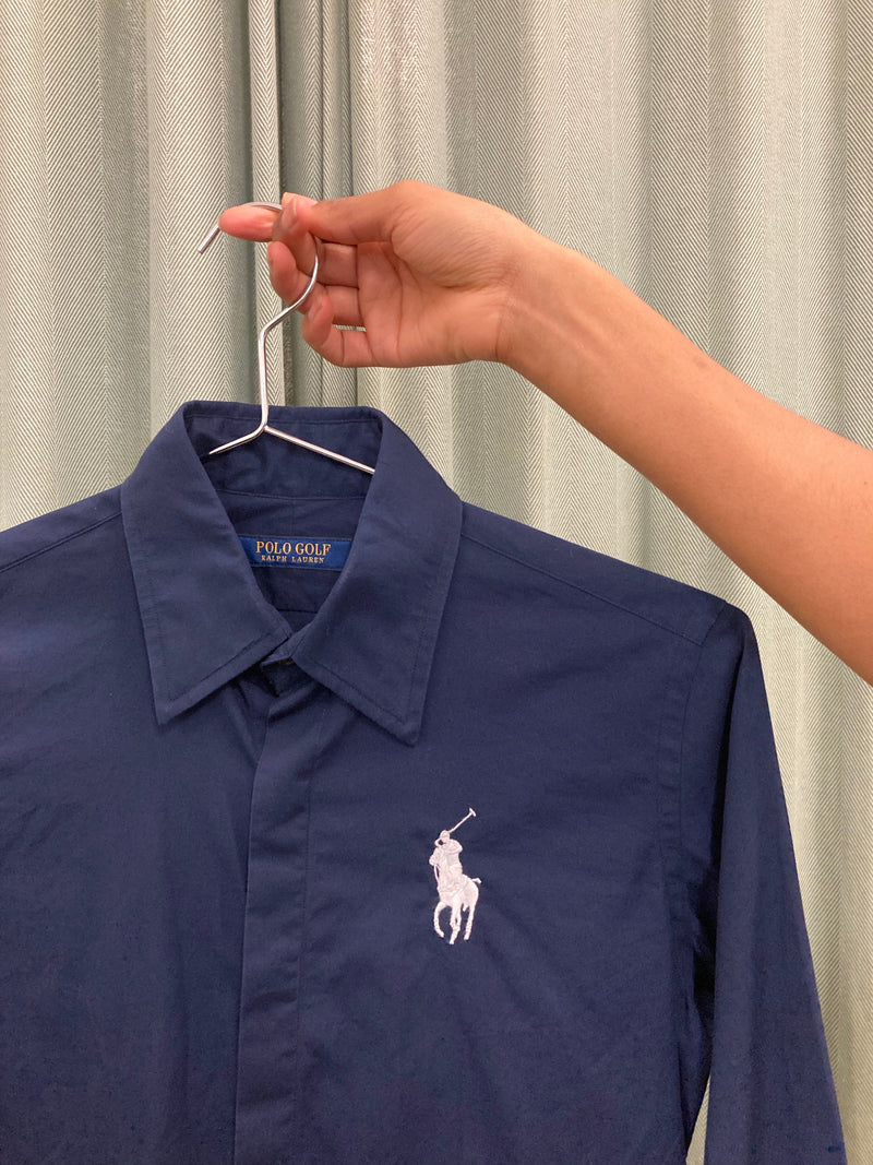 Polo Golf Navy Button Up
