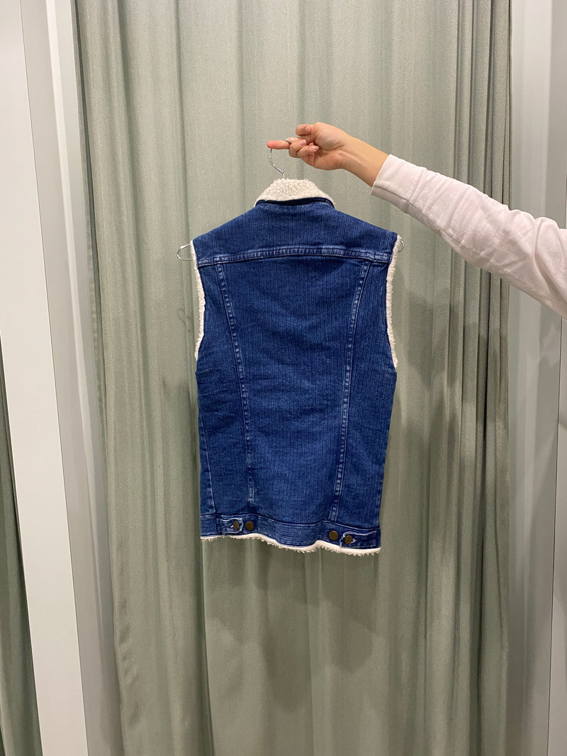 Vintage Lee Fluffy Denim Vest