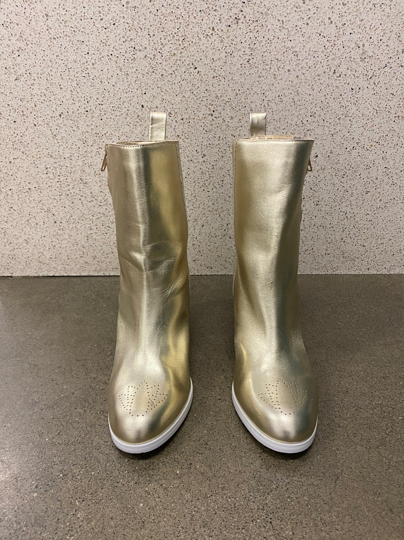 Jaggar Gold Leather Boots
