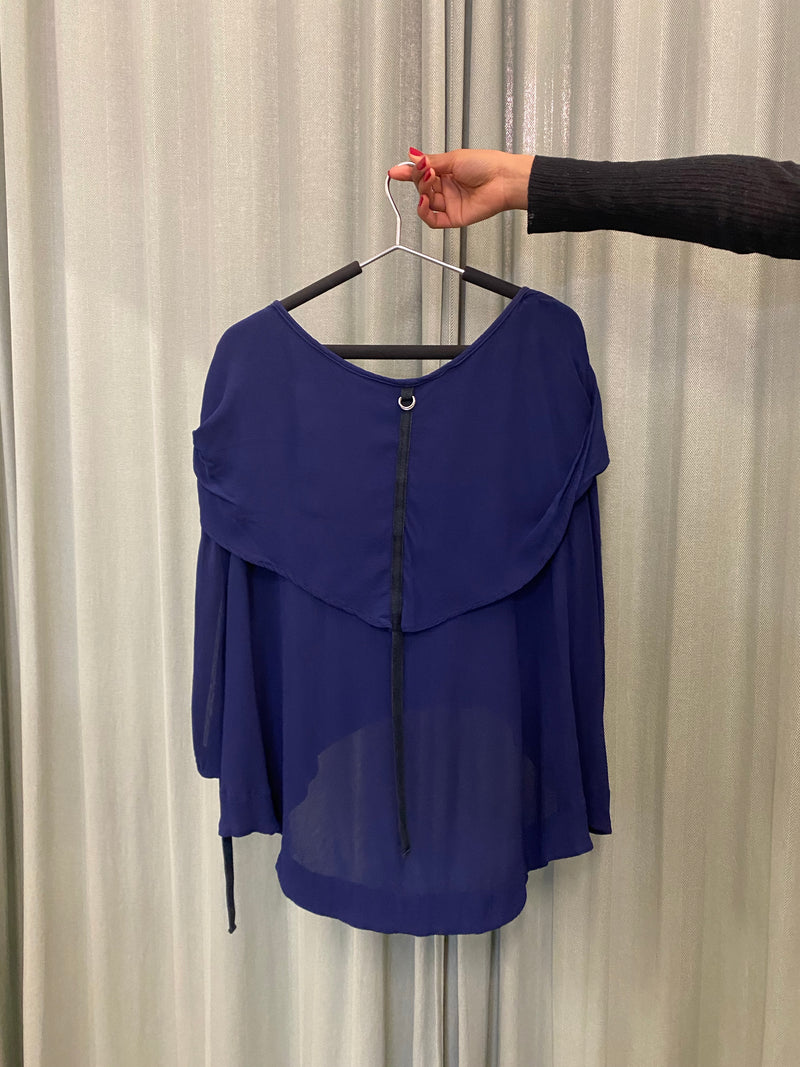 Nom*d Navy Draped Tunic