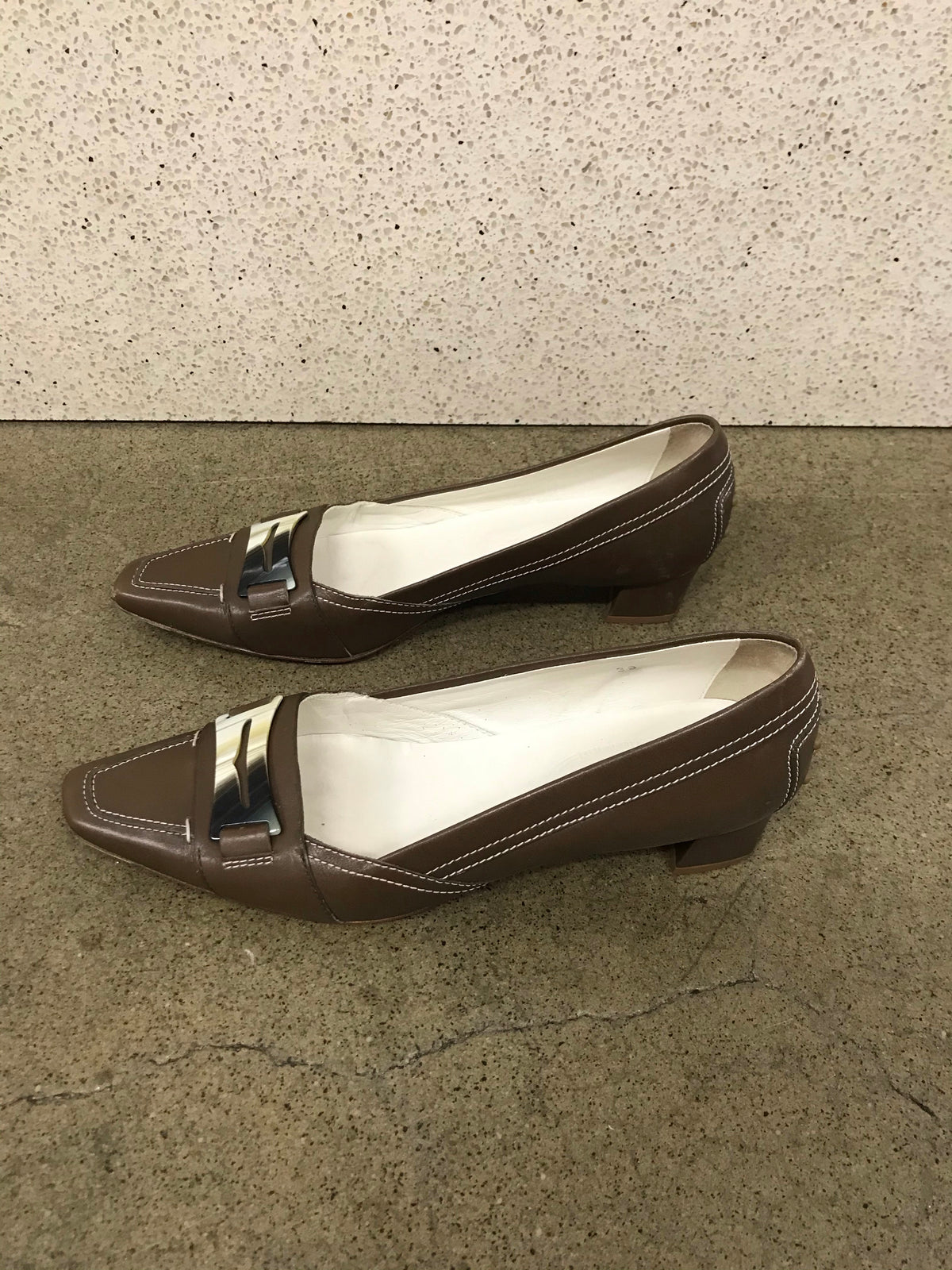 Tod's Square Toe Loafers