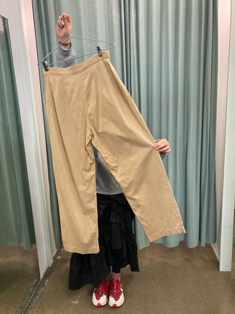 Uniqlo Caramel Pinstripe Trousers