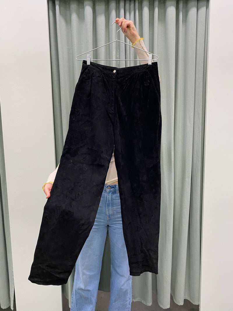 Vintage High Waisted Suede Pants