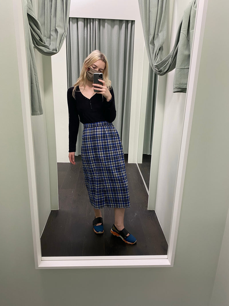 Vintage Katies Blue Tartan Skirt