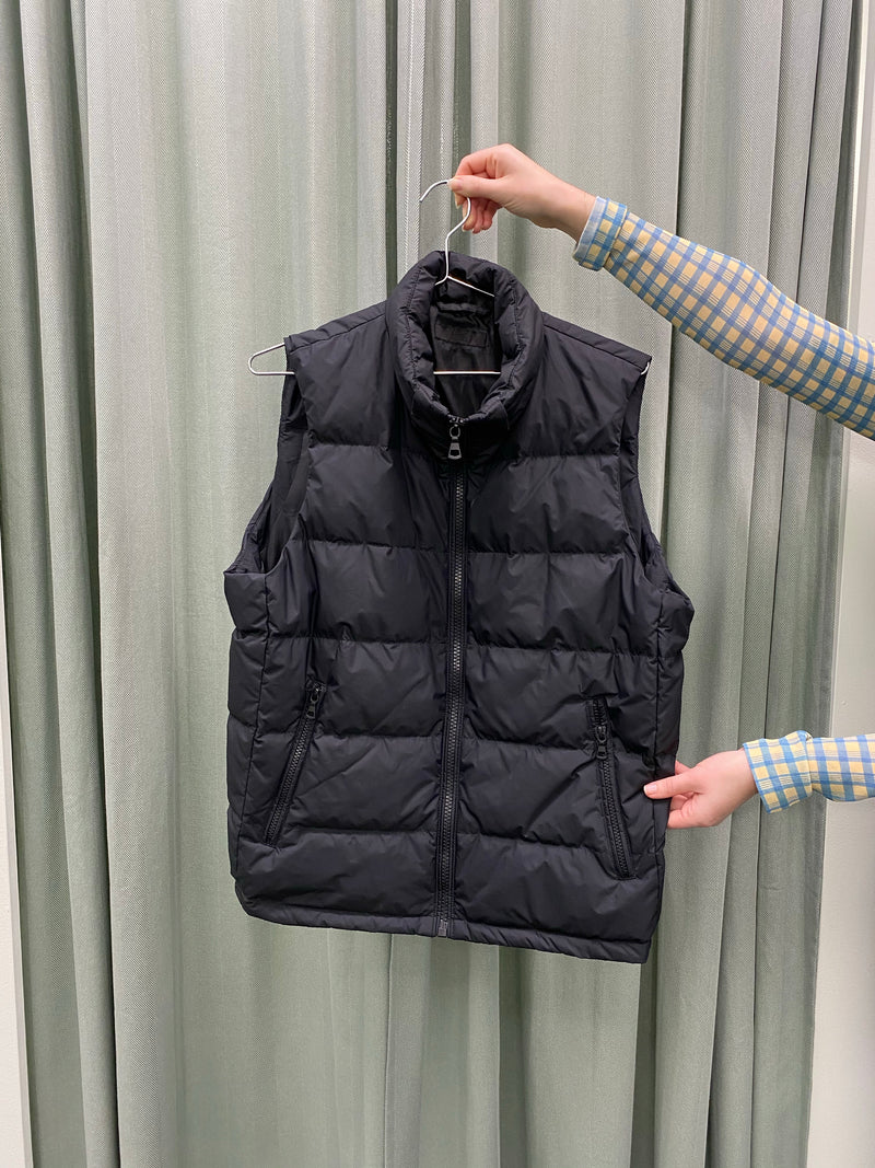 Black Duck Down Puffer Vest