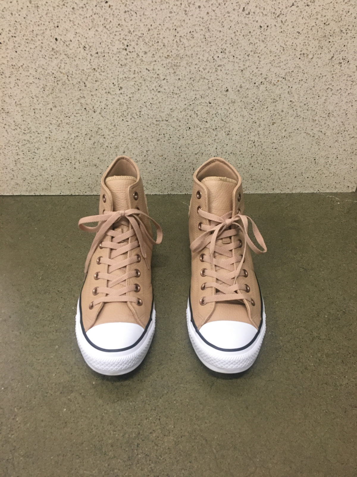 Converse Beige Leather Sneakers