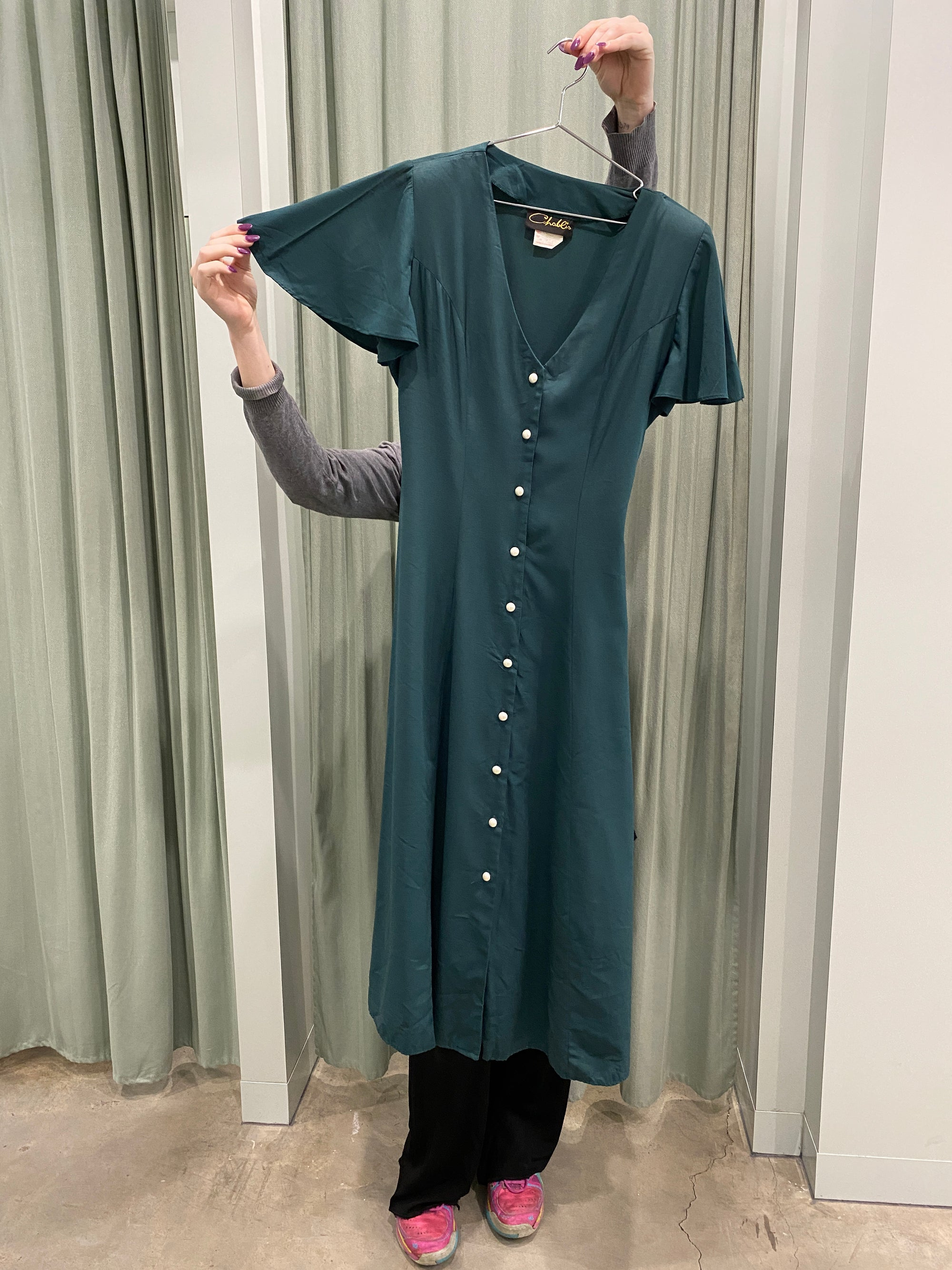 Vintage Forest Green Dress