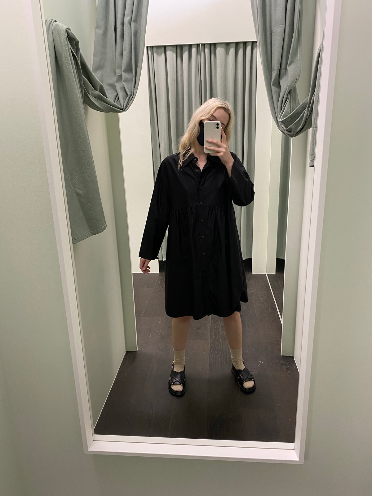 Nicola Waite Black Shirt Dress