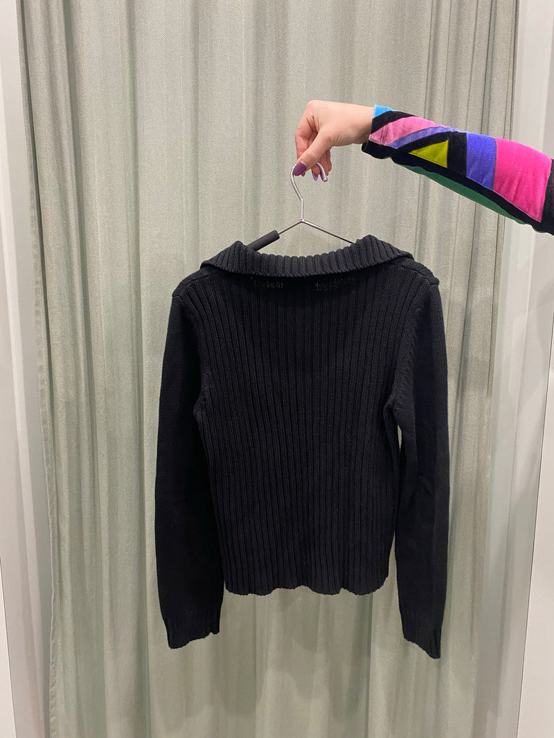Sisley Ribbed Zip Up Knit