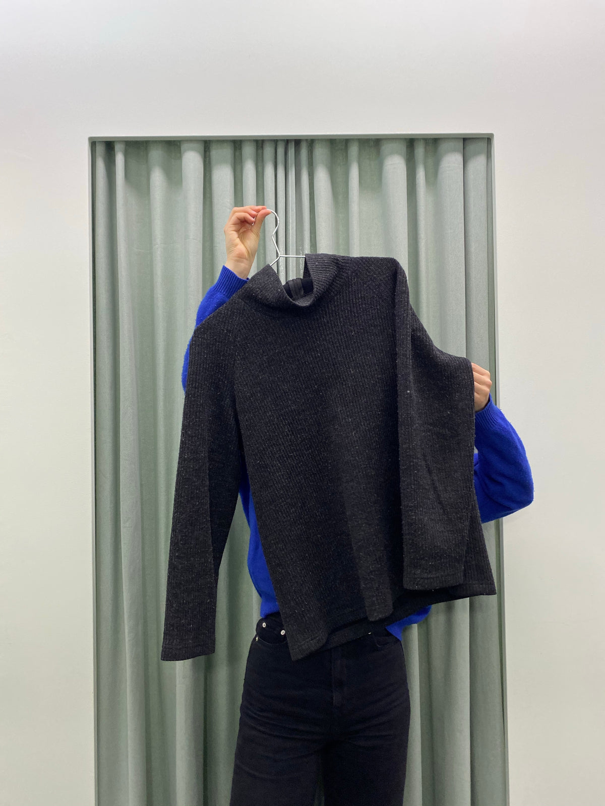 Pageant Charcoal Turtle Neck Jumper