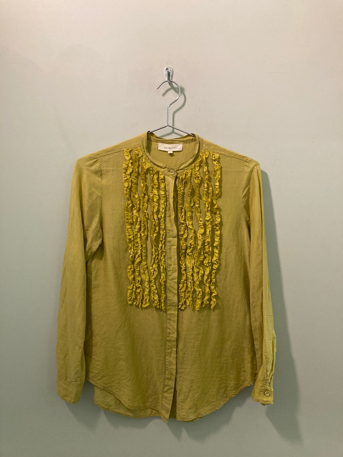 Lee Mathews Ruffled Shirt
