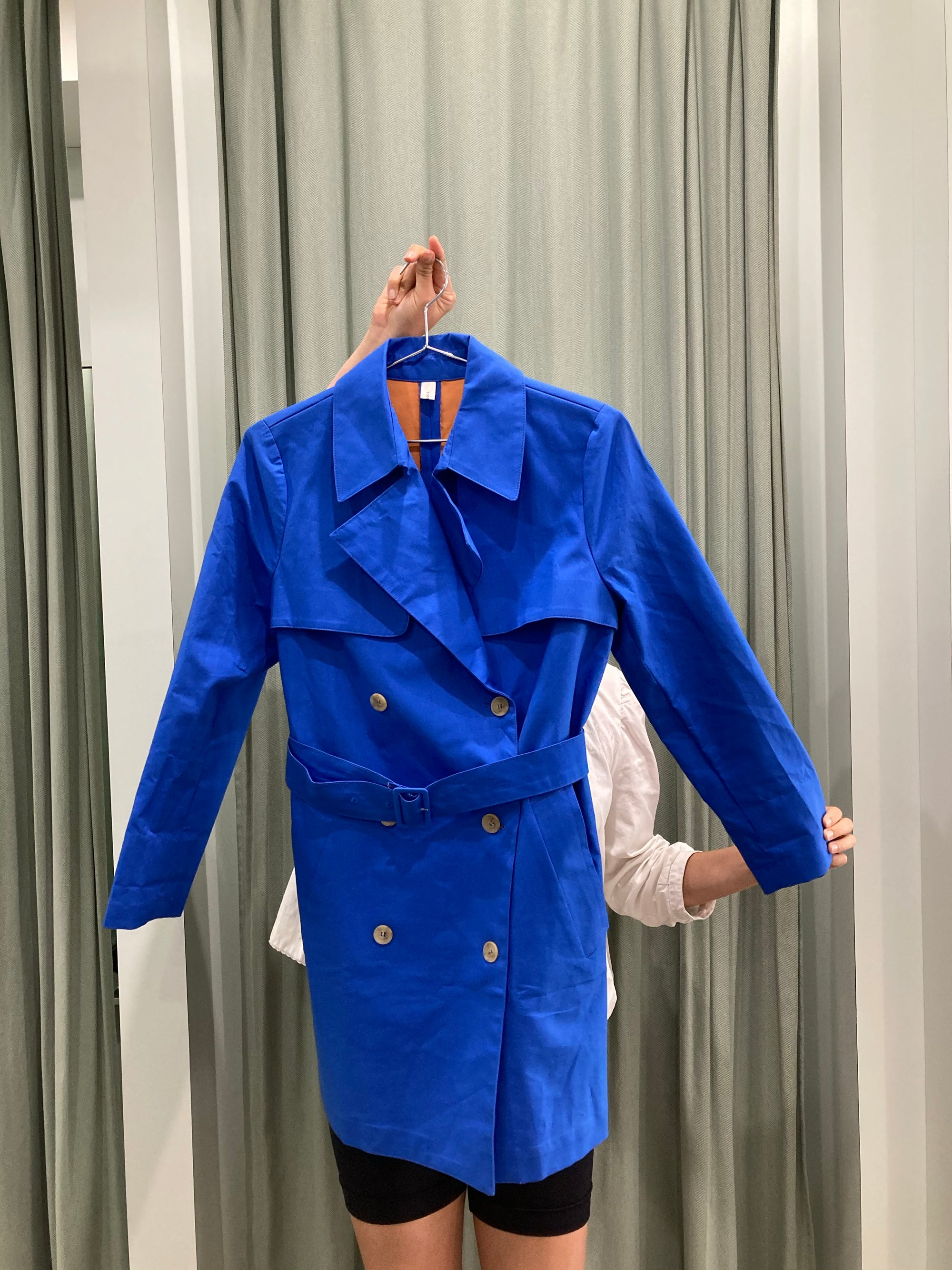 Cerulean Blue Short Trench