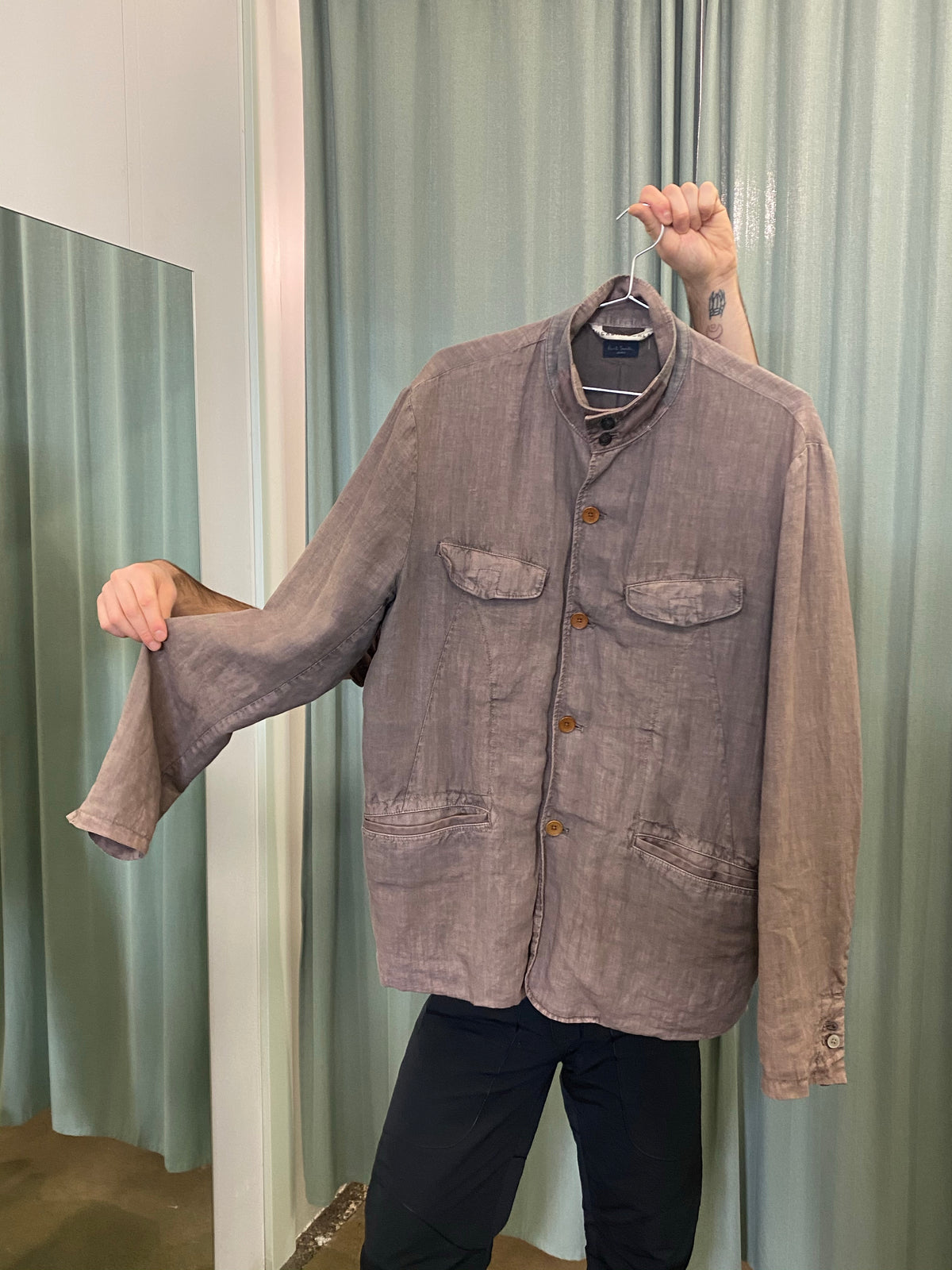 Paul Smith Jeans Distressed Linen Jacket
