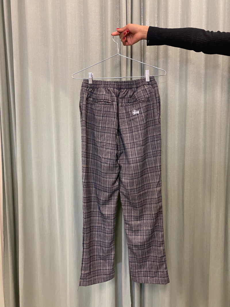 Stüssy Grey Plaid Trousers