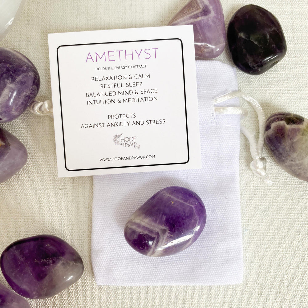 Load image into Gallery viewer, Amethyst Chevron Tumble Stone