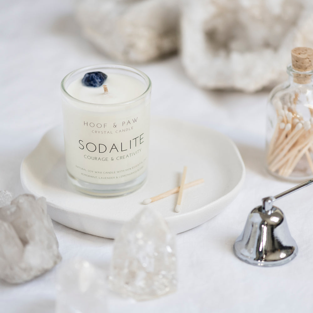 Load image into Gallery viewer, Sodalite Travel Candle