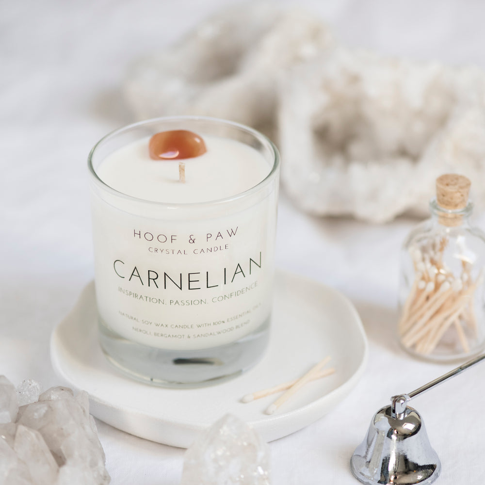 Load image into Gallery viewer, Carnelian Candle (New)