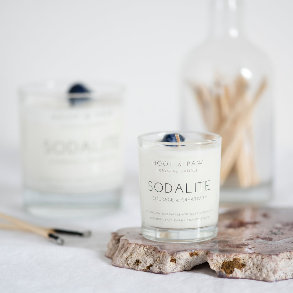 Sodalite Travel Candle