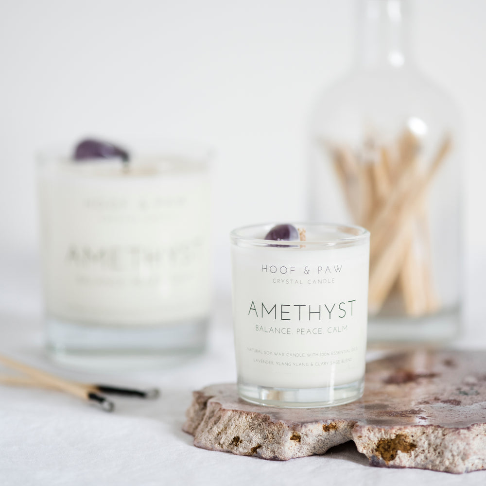Amethyst Travel Candle