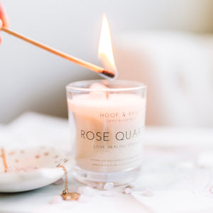 Load image into Gallery viewer, Rose Quartz Travel Candle