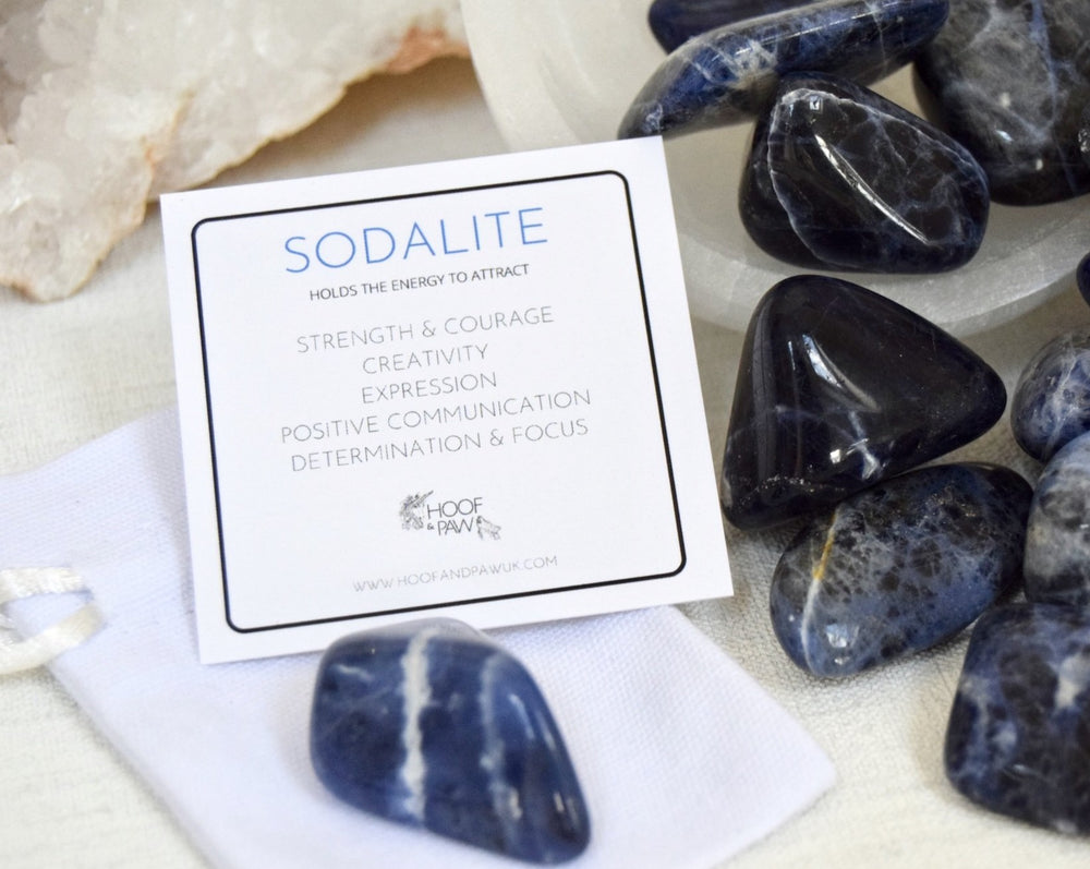 Load image into Gallery viewer, Sodalite Large Tumble Stone