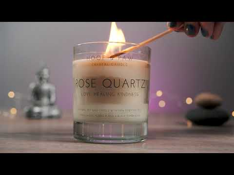Load and play video in Gallery viewer, Rose Quartz Crystal Candle