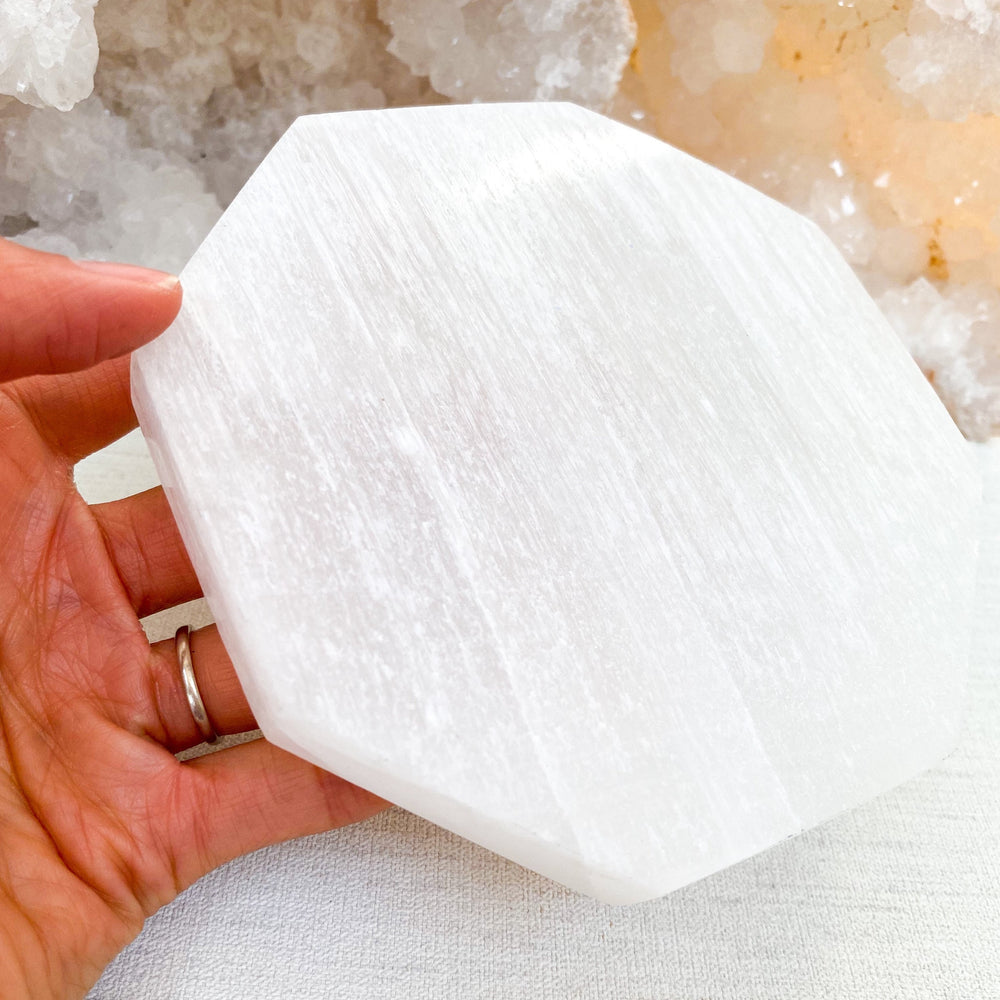 Selenite Octagonal Charging Slab