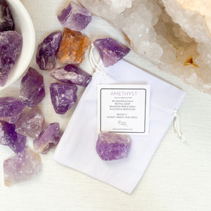 Amethyst, Rough Cut