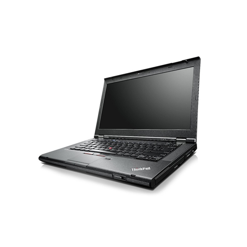 A front right side view of a Lenovo ThinkPad T430 - i5-3360M | 8-16GB RAM | 256GB SSD - 512GB SSD (REFURBISHED) laptop