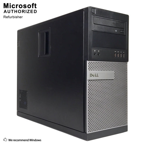 Dell Optiplex 9010 Tower Desktop Computer - i5-3470 3.20 GHz | 16GB-32GB RAM | 256GB SATA - 1TB SSD | GT1030 2GB (REFURBISHED)