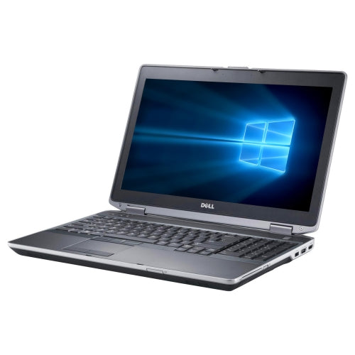 A front right side view of a Dell Latitude E6540 - i7-4800MQ 2.7GHz | 8GB-16GB DDR4 RAM | 128GB SSD - 512GB SSD (REFURBISHED) laptop