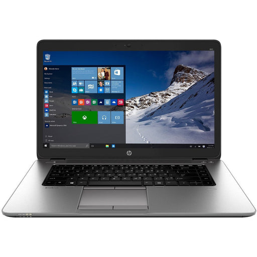 A front view of an HP EliteBook 850 G2 - i5-5300U 2.30GHz | 8-16GB RAM | 256GB SSD - 512GB SSD - 1TB SSD (REFURBISHED) laptop