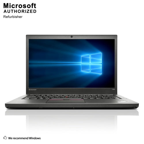 A front view of a Lenovo Thinkpad T450s - I5-5300U up to 2.90GHz | 8GB-16GB RAM | 512GB SSD - 1TB SSD (REFURBISHED) laptop