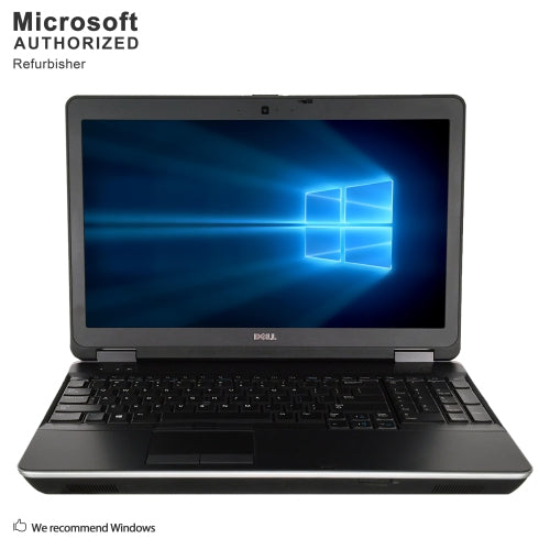 A front view of a Dell Latitude E6540 - i7 4600M up to 3.6Ghz | 8GB-16GB DDR4 RAM | 128GB SSD - 512GB SSD (REFURBISHED) laptop