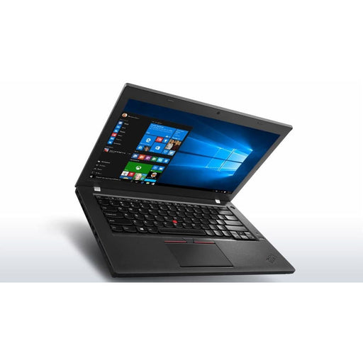 A front left side view of a Lenovo Thinkpad T460s -i5-6300U 2.4GHz |  8-16GB RAM | 128GB SSD - 256GB SSD - 512GB SSD (REFURBISHED) laptop